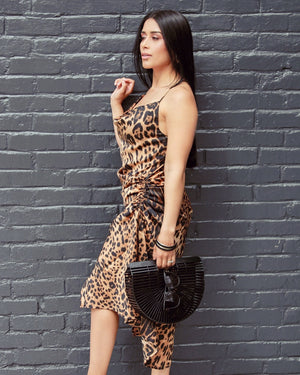 Fierce Feline Slip Dress - Uncommon Lux