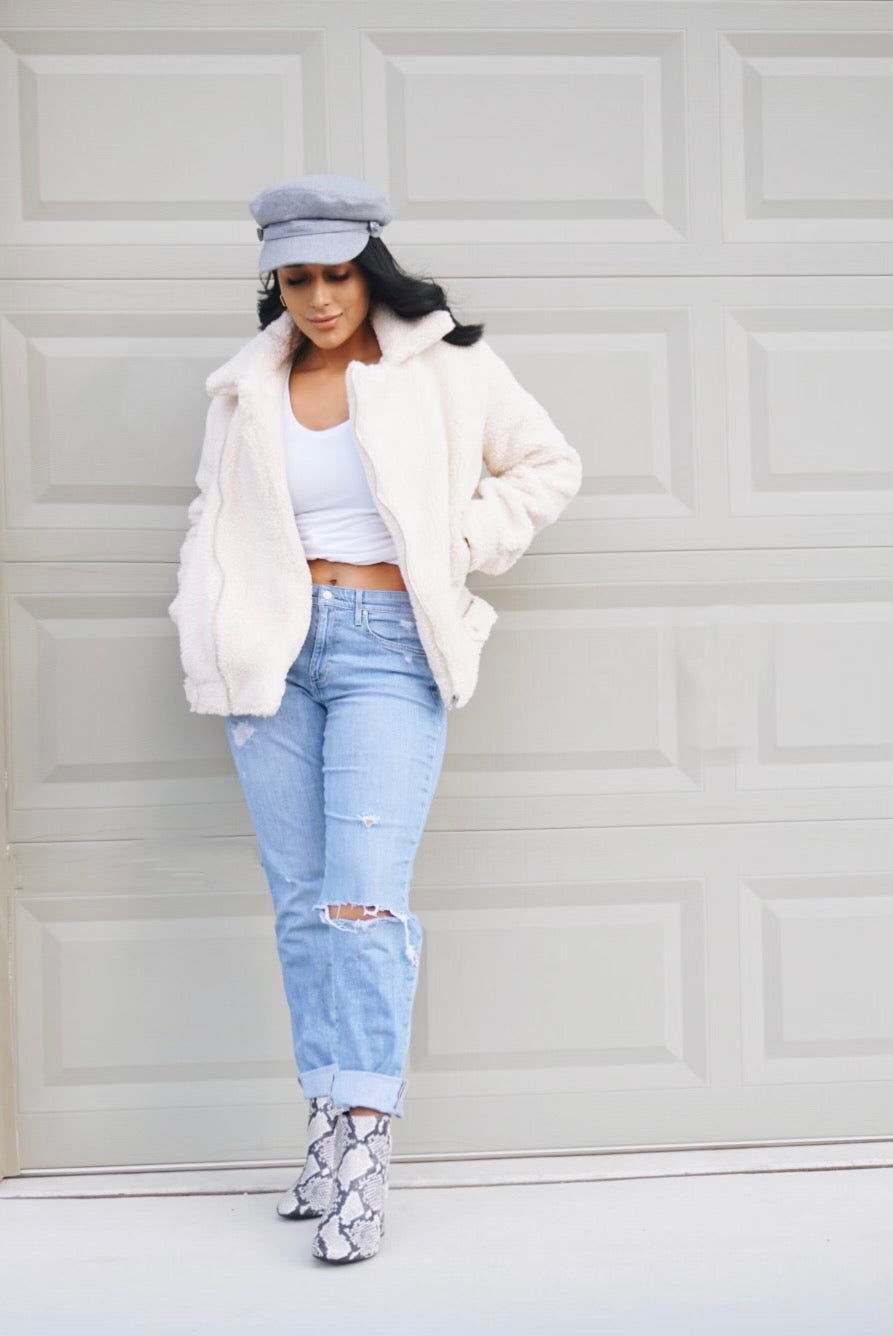 Sierra Cream Teddy Jacket