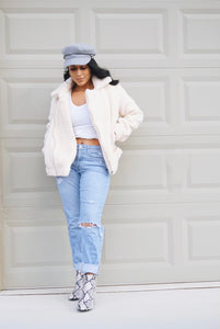 Sierra Cream Teddy Jacket - FINAL SALE