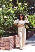 White Havana Crop Top