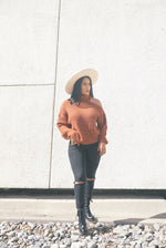 Macchiato Chunky Knit Sweater- FINAL SALE