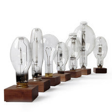 Industrial light bulb sculptures