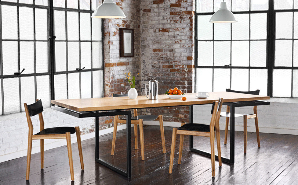 Miles dining table & chair - hickory