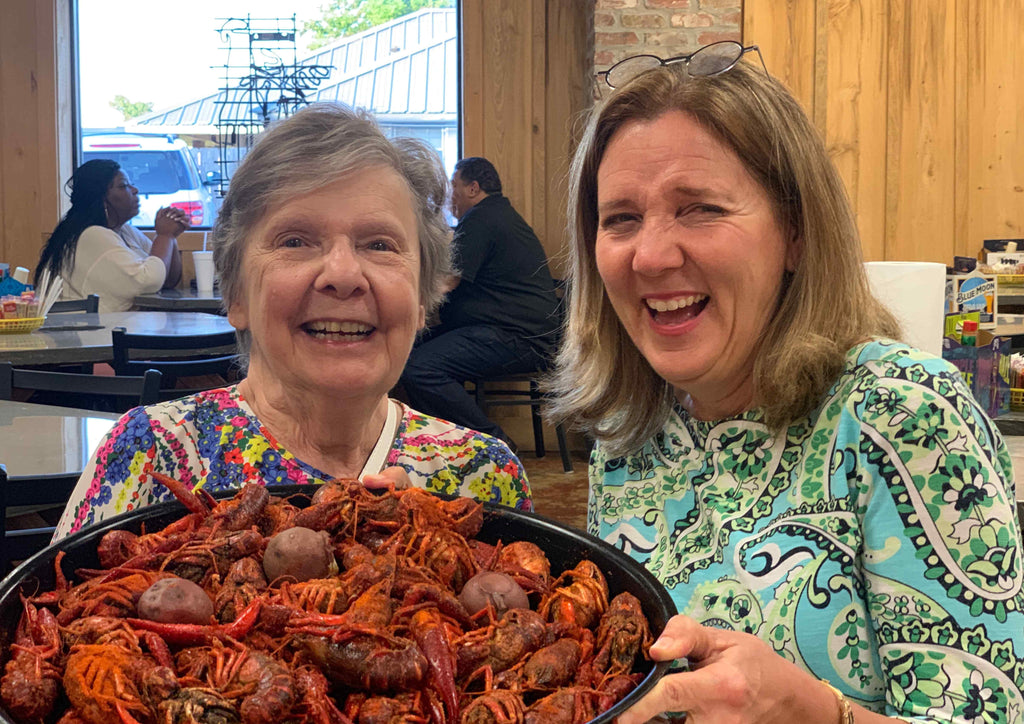 Eating the last crawfish of the season at Crawfish Time Lafayette