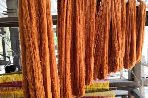 natural dyed eri silk yarn
