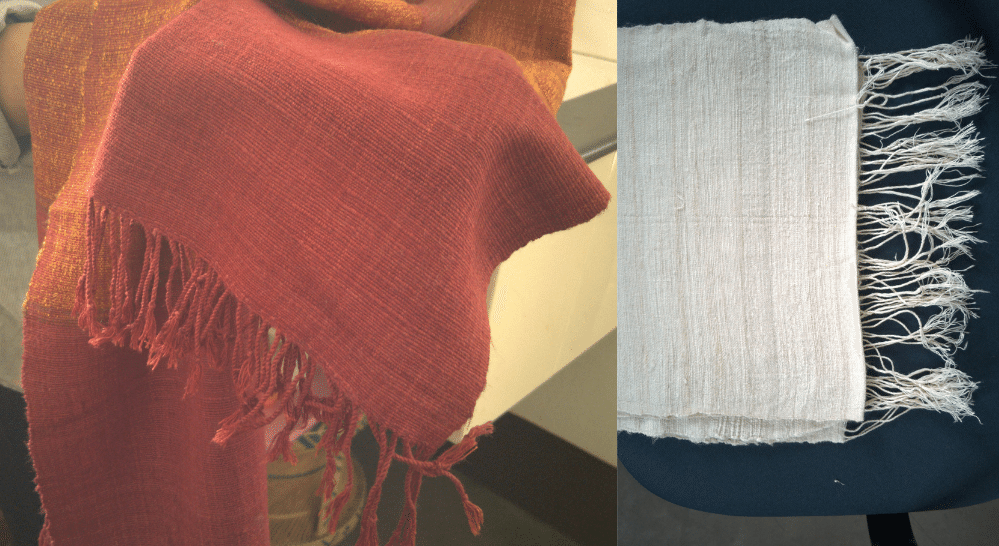 Dyed and undyed fabrics before and after washing | Muezart
