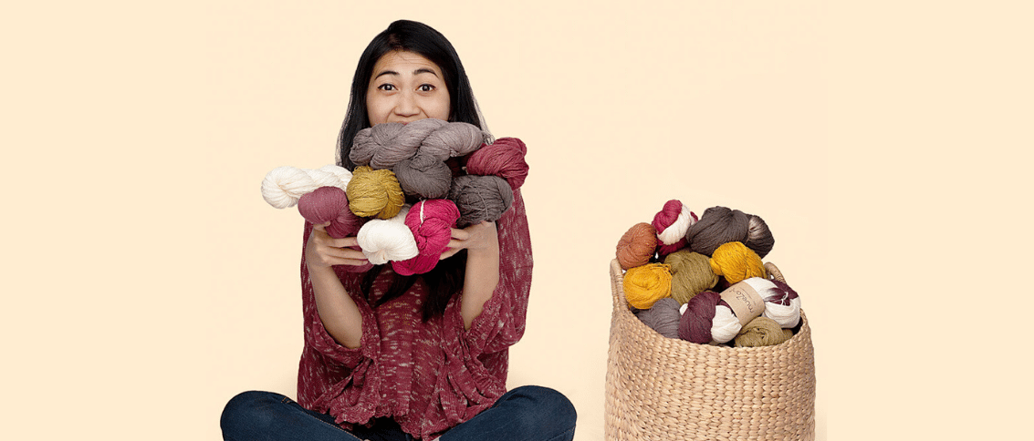 Eri silk collection of handspun, millspun for knitters, weavers and spinners from Meghalaya India | Muezart