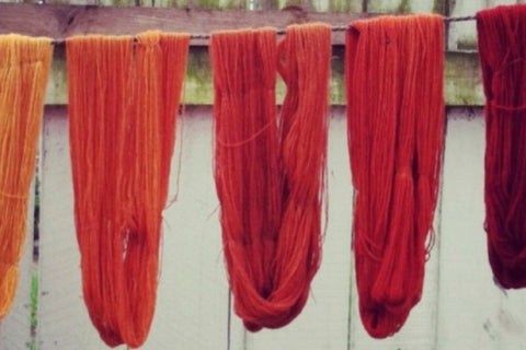 natural dyes for dyeing hand spun eri silk yarn