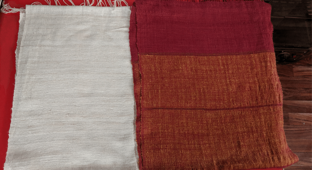 Our dyed and undyed fabrics after washing | Muezart