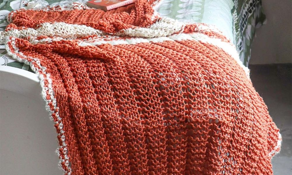 Summer Knitted throw | Muezart India