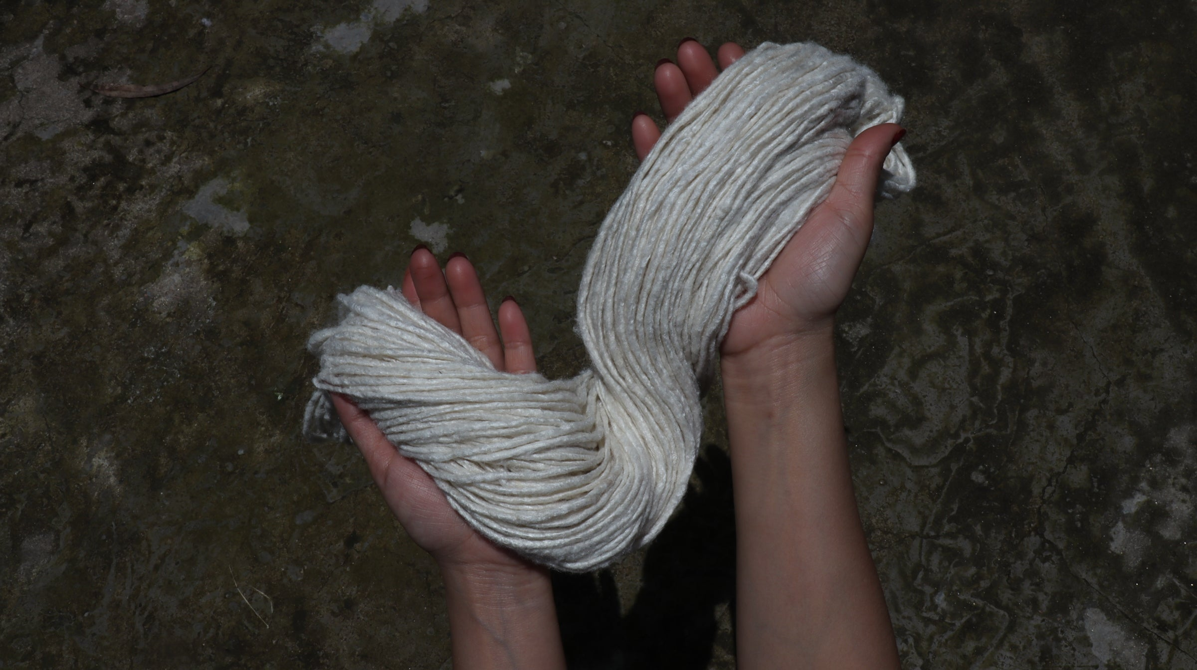 Eri Silk is a protein fiber perfect as an un-dyed yarn for natural dying