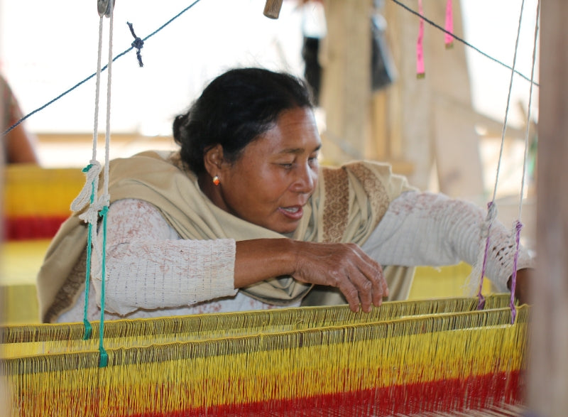 Weavers love to create natural color