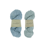Eri silk bundle 15/3 Fingering naturally dyed color yarn | Muezart