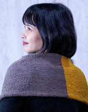 Free Knitting Pattern, Eri silk Color Block Scarf | Pattern | Muezart