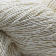 close up of our light fingering 60/6 eri silk undyed yarn | Muezart