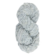 Upcycle handspun Eri silk worsted, DK yarn for knitting | Blue Sohiong | Muezart