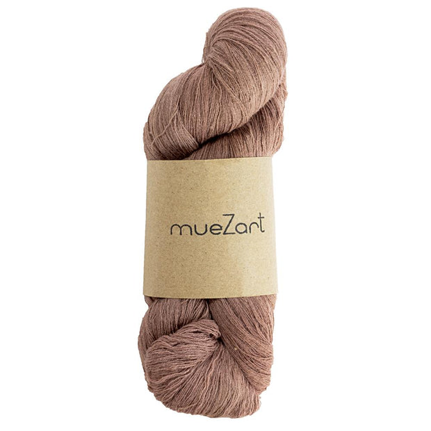 Eri silk naturally cherry malt dyed fine lace weight yarn | Muezart