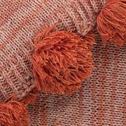 eri silk knitted scarf | natural dyed monarch orange & cherry malt | peace silk erandi silk errandi | eri seide ahimsa seide