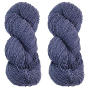 Eri silk bundle 15/3 Fingering Erino naturally dyed mulberry blue color yarn | Muezart