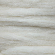 Close up of Erino tops long roving fiber for blending, felting, paper making, soap making. A blend of Eri silk and Merino roving fiber | Muezart