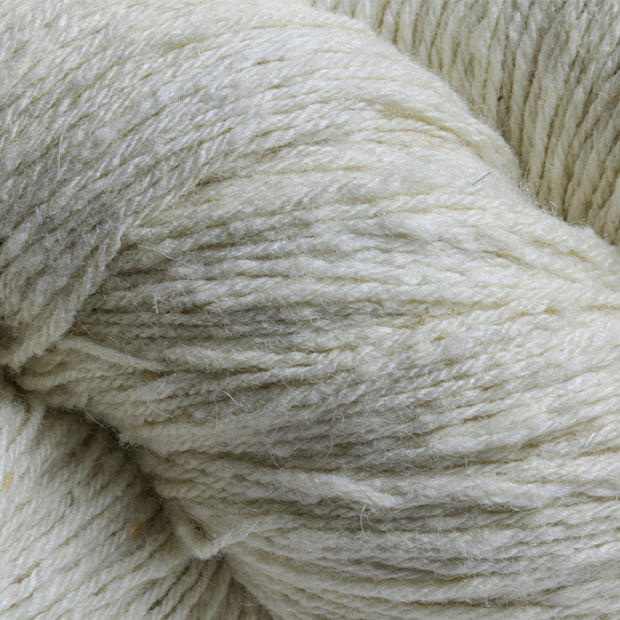 Closeup Undyed Eri silk and Merino Yarn | Erino | Closeup