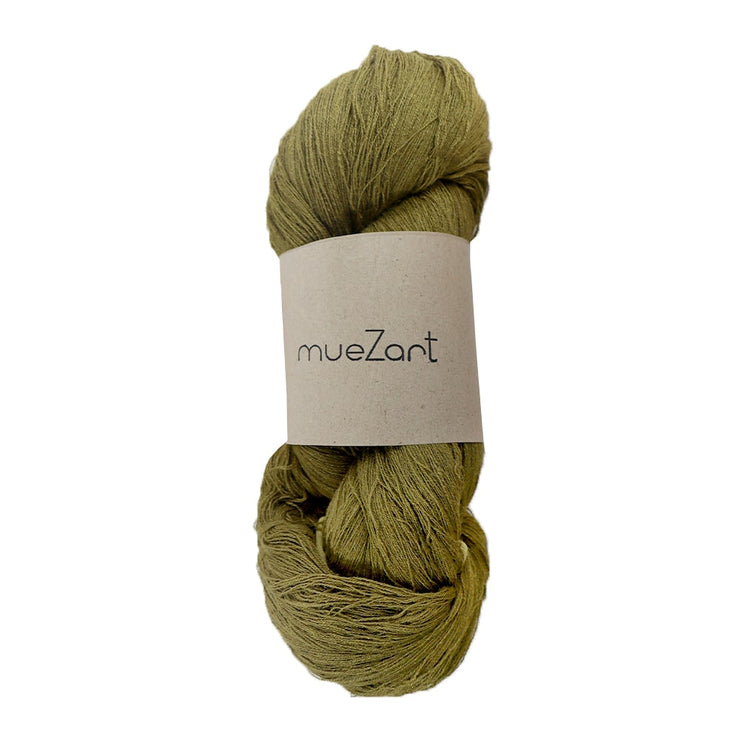 Eri silk Fern Green 60/2 Fine lace 100g yarn | Muezart