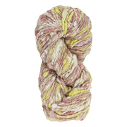 Upcycle handspun Eri silk worsted, DK yarn for knitting | Lac and yellow | Muezart