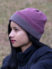 eri silk beanies 100% natural dyed | warm handmade handknitted apparel | Muezart