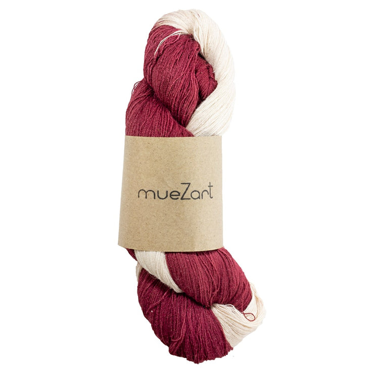 Eri silk fine lace 60/2 naturally dyed yarn for weaving | Muezart