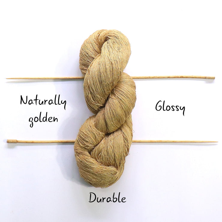 Muga silk yarn 60/2 | Natural color for weaving | Muezart