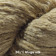 Closeup of our Muga Silk Yarn 30/1 | Natural Fiber Yarn Color | Yarn for weaving