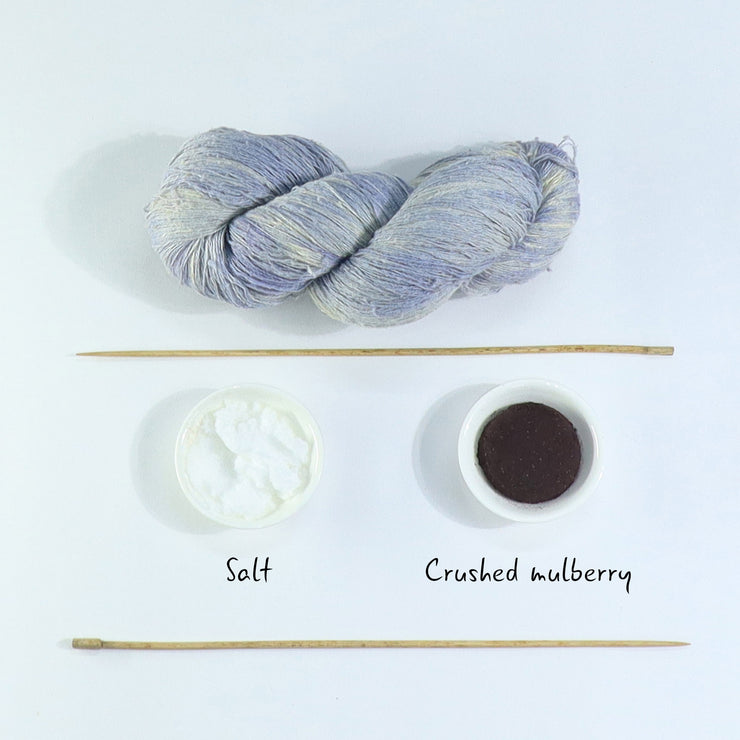 Ingredients for our mulberry silk yarn | Muezart