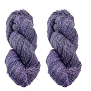 Eri silk bundle 15/3 Fingering Eri naturally dyed mulberry blue color yarn | Muezart