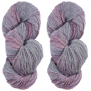 Eri silk bundle 15/3 Fingering Erino naturally dyed mulberry speckled color yarn | Muezart