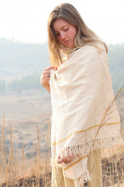 Ryndia Peace Silk Shawl - pure handwoven eri silk shawls from Meghalaya
