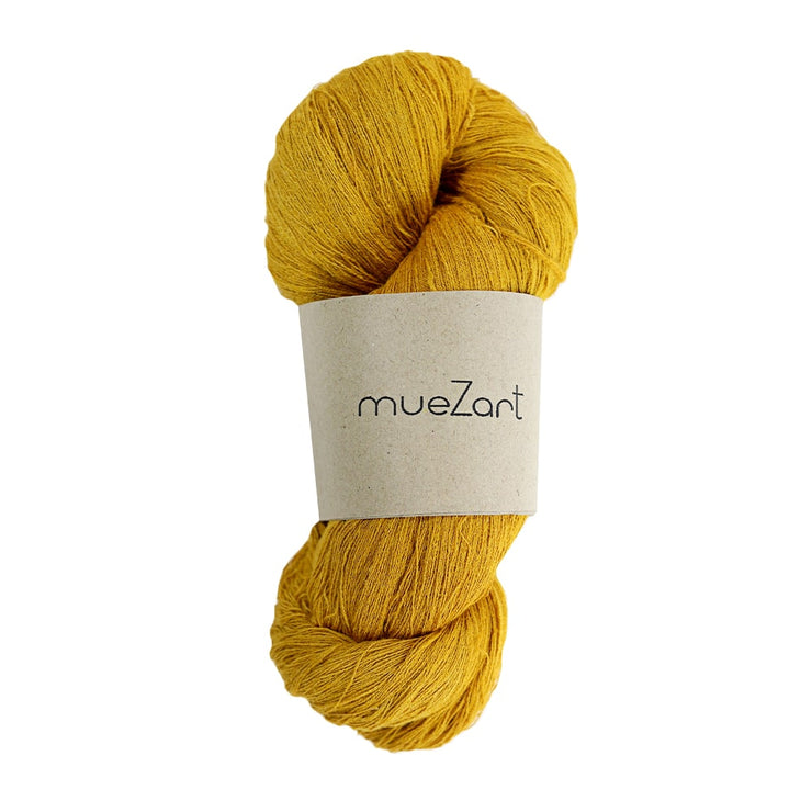 Yarn | Hand dyed natural sunglow yellow Eri silk 60/2 90g
