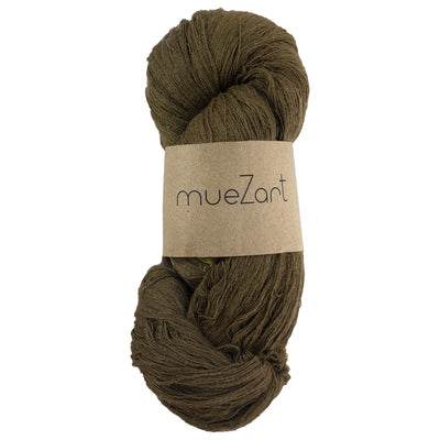 eri silk yarn | natural dyed turtle green | sustainable yarn | vegan yarn | peace silk erandi silk errandi | eri seide ahimsa seide