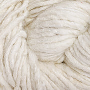 Close up of our Eri silk undyed handspun worsted yarn | Muezart
