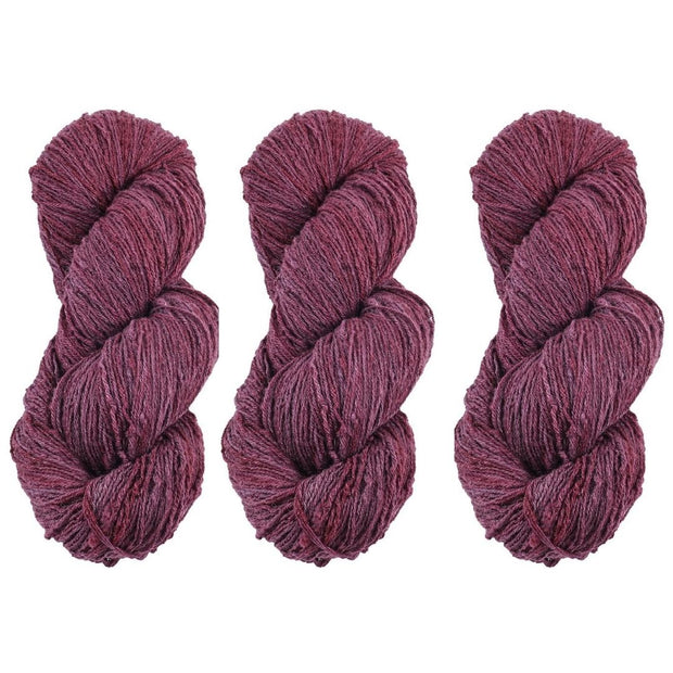 Eri silk bundle 15/3 Fingering Erino naturally dyed mulberry maroon color yarn | Muezart