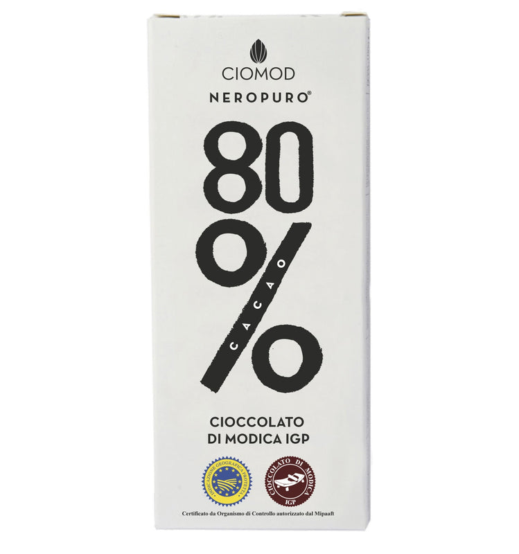 Cioccolato di Modica All'80% 100gr Ciomod