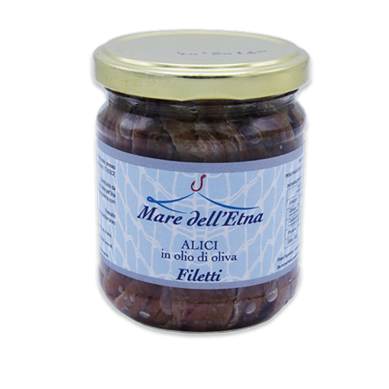 Filetto di Alici 200gr in olio di oliva Mare dell'Etna