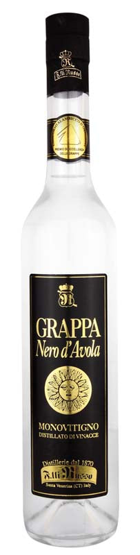 Grappa Nero D'avola 500 ml Distilleria Fratelli Russo