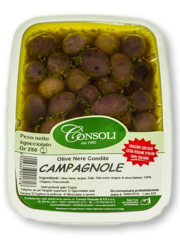 "Olive nere ""Campagnole"" 250gr Consoli"