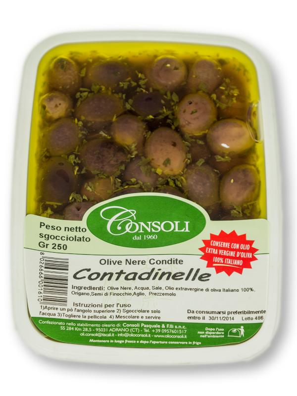 "Olive nere ""Contadinelle"" 250gr Consoli"