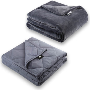 Microplush Fleece Weighted Blanket Set - DREAMality