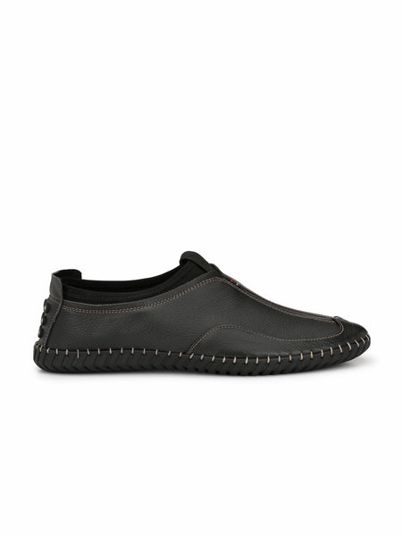 BLACK COMFORT DRIVING LEATHER SHOES FOR MEN