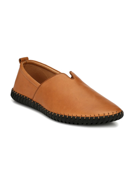 TEAK LEATHER DRIVING CASUAL SHOES FOR MEN