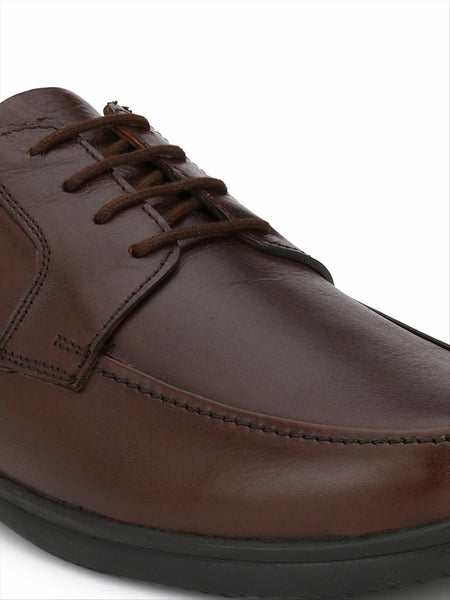 Banish Men's Brown Genuine Leather Derby Formal Shoes