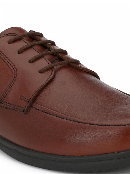 Banish Men's Tan Genuine Leather Derby Formal Shoes