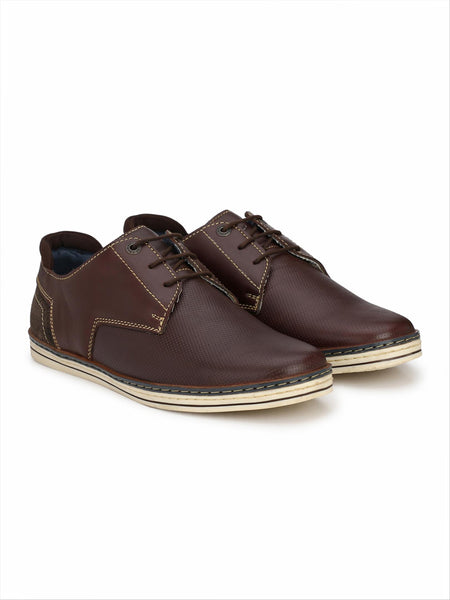 Banish Men's Bordo Genuine Leather Casual Shoes